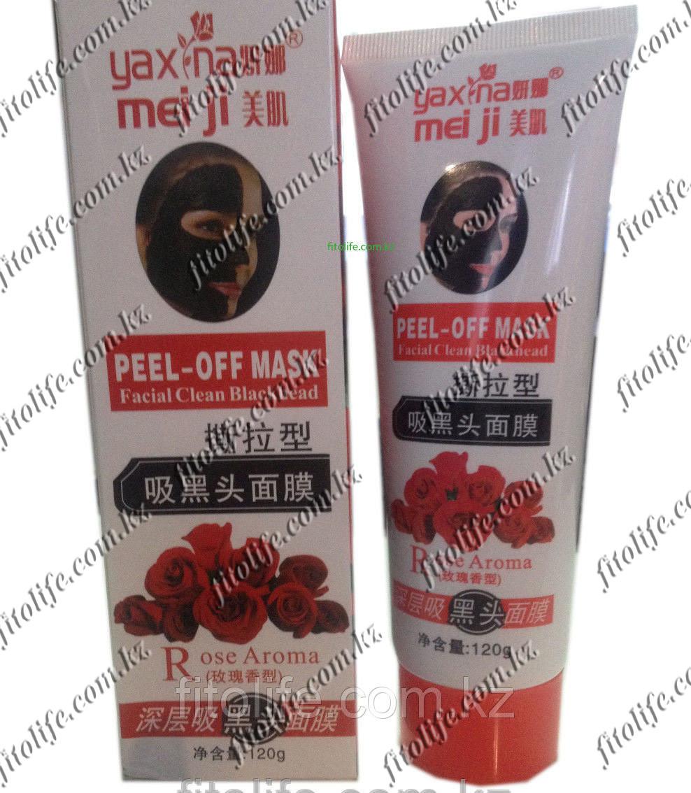 Очищающая черная маска для лица, роза