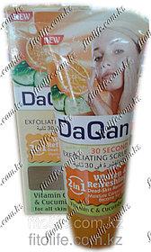 Скраб для лица DaQan,апельсин и огурец