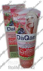 Скраб для лица DaQan,клубника и черника