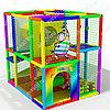 Детский игровой лабиринт Радужная зебра (2700х1900х2600 мм)