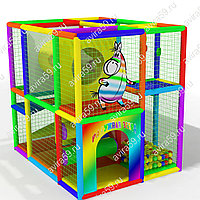 Детский игровой лабиринт Радужная зебра (2700х1900х2600 мм), фото 1