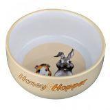 Trixie Миска для кроликов, морских свинок. Керамика. Из серии Honey & Hopper. 11см