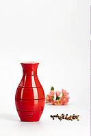Мельница для соли и перца 16 Х 8 см Bisetti VASE design by Adam + Harborth / 2012, форма ваза, цвет красный