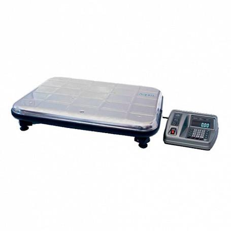 Весы электронные ВЭУ-150С-50/100-Д-У 100/80/87  (платформа 600х450 мм нержав.,  до150кг)