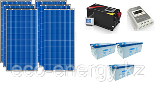 Автономная солнечная электростанция 6,8 кВт*ч в сутки (1.5 кВт в час) 24 В