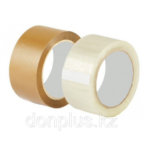 Скотч 40мм х125м (прозрачный, желтый)