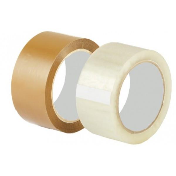 Скотч 40мм х75м (прозрачный, желтый)