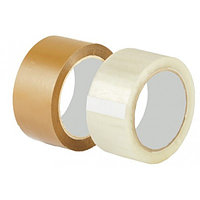 Скотч 40 мм х 150м (прозрачный, желтый)