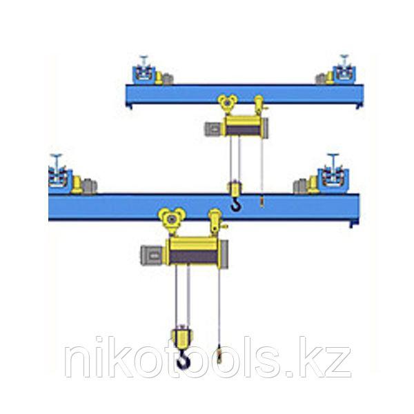 Кран мостовой однобалочный подвесной однопролётный г/п 1 т пролет 12,0 м
