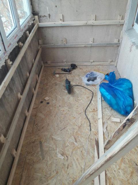 Остекление, обшивка и утепление балкона по адресу ул. Куйши Дина 46 2