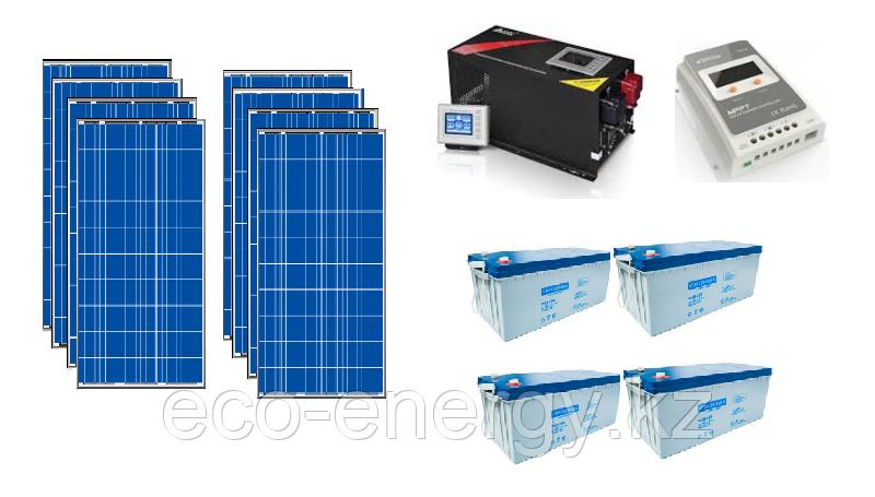 Автономная солнечная станция 9 кВт*ч в сутки (2 кВт в час) 24 В
