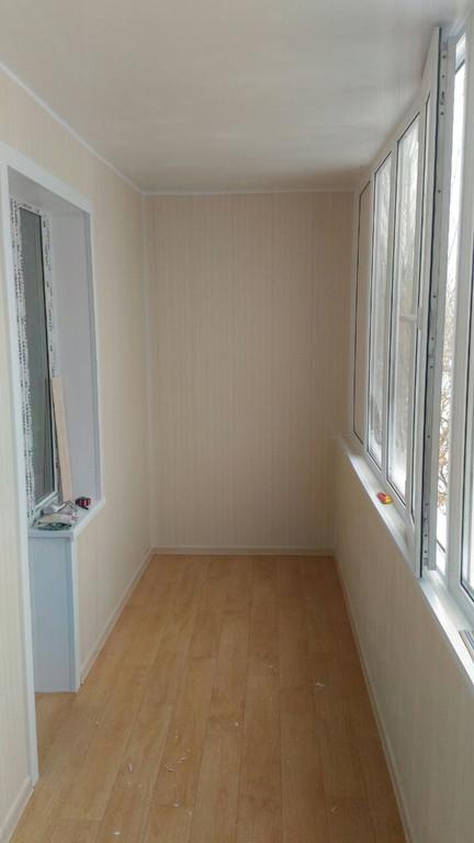 Остекление, обшивка и утепление балкона по адресу ул. Куйши Дина 46