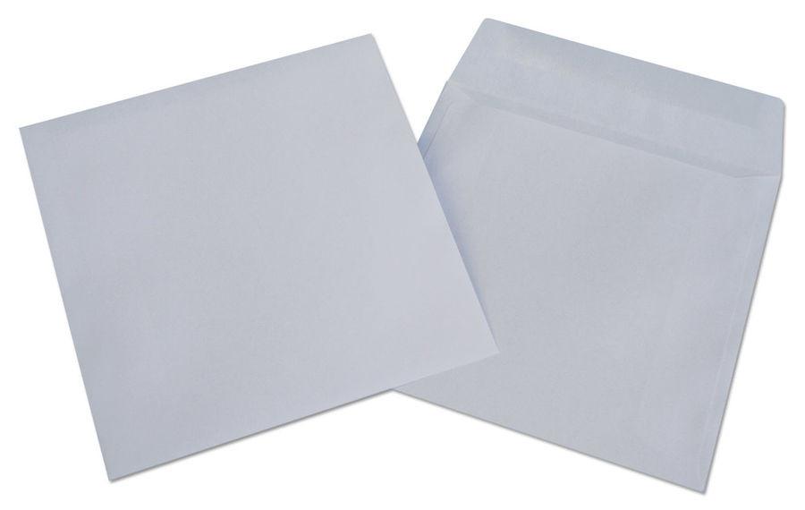 Конверт для CD-дисков (124*127)  80 гр/м2, белый