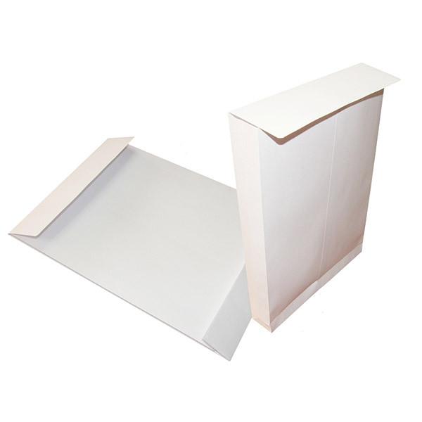Конверт С4 (229*324*40), с расширением, 130гр/м2, пакет белый