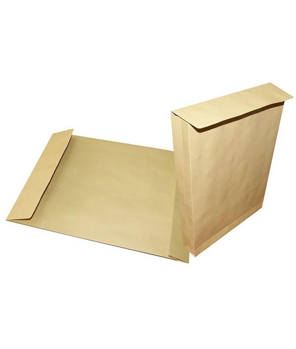 Конверт С4 (229*324*40), с расширением, 130гр/м2, пакет коричневый