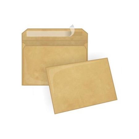 Конверт С5 (162*229) силикон, 80гр/м2, пакет коричневый