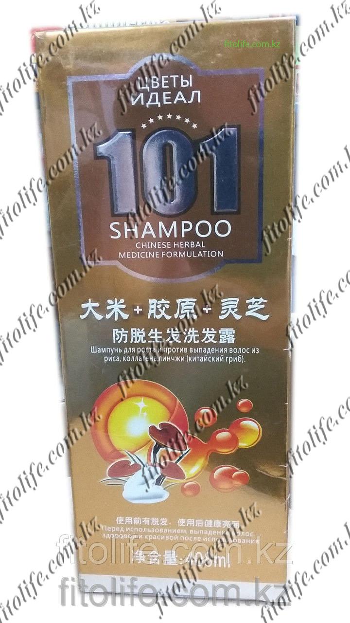 """Шампунь """"101"""" для роста и против выпадения волос, рис,коллаген и линчжи"""