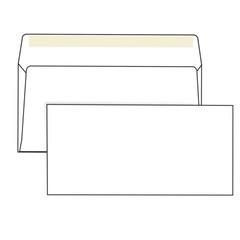 Конверт Е65 (110*220) силикон, 80гр/м2