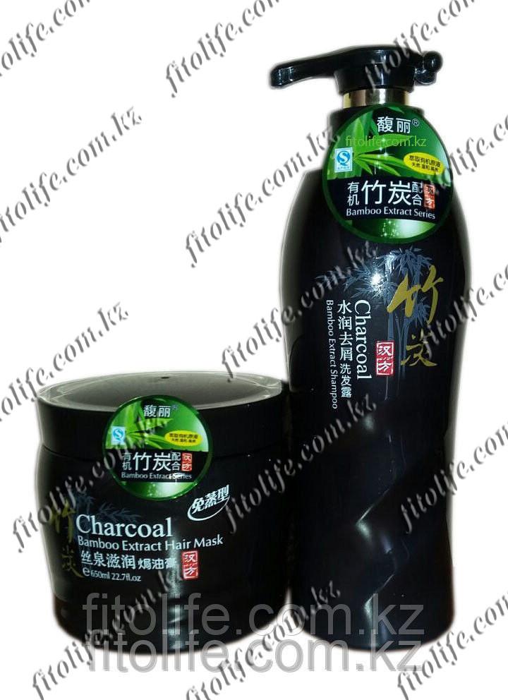 Комплект шампунь и бальзам с экстрактом бамбука, укрепляет и восстанавливает