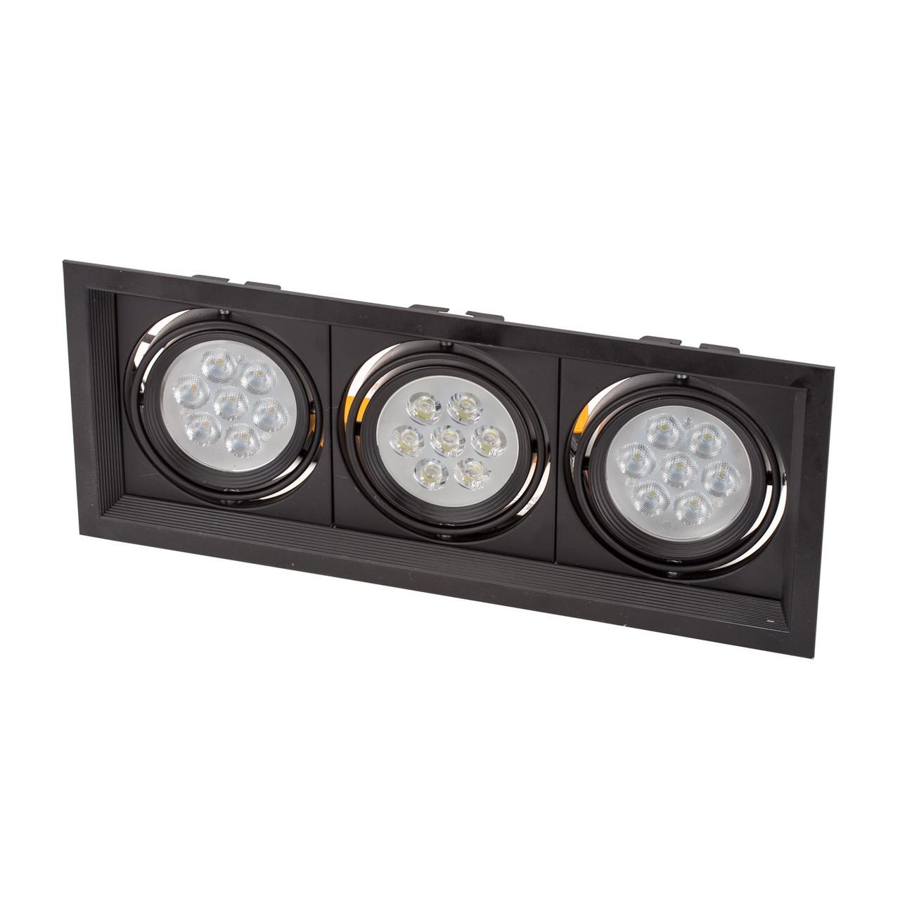 Светодиодный светильник downlight 3*7W (21W), встраиваемый