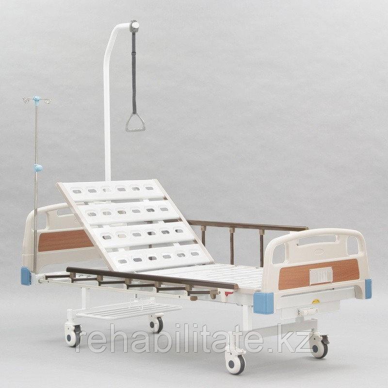 Двухсекционная кровать с винтовой регулировкой положения изголовья RS-112А
