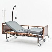 Четырехсекционная кровать для лежачих больных c туалетом Е-8 WOOD WC., фото 1