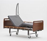 Четырехсекционная кровать для лежачих больных, серия Домашний уход E-8 (Сигма-8) WOOD, фото 1