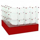 Модульная Г-образная витрина