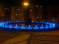 Пешеходный фонтан, пешеходный модуль (круглой формы, 9W), фото 1