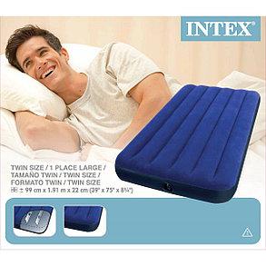 Надувной матрас Intex 68757 Синий (Габариты: 191 х 99 х 22 см), фото 2