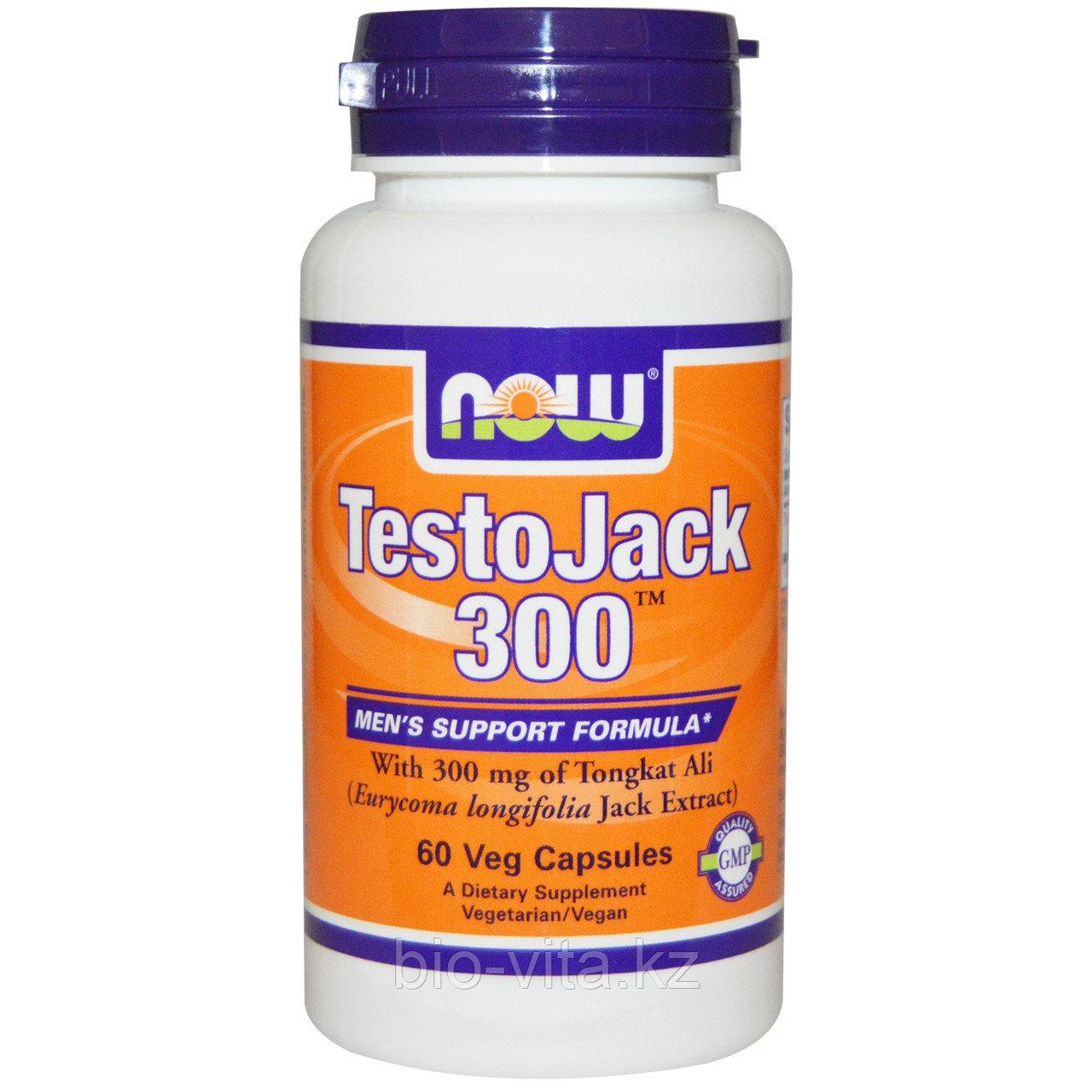 Now Foods, ТЕСТОДЖЕК 300,Эврикома длиннолистная. (Для улучшения потенции) 60 капсул.