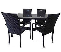 """Ротанговая мебель """"Комплект стол + 6 стульев"""""""