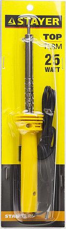"""Паяльник STAYER """"STANDARD"""" с пластмассовой рукояткой и долговечным жалом, 25 Вт, конус, фото 2"""