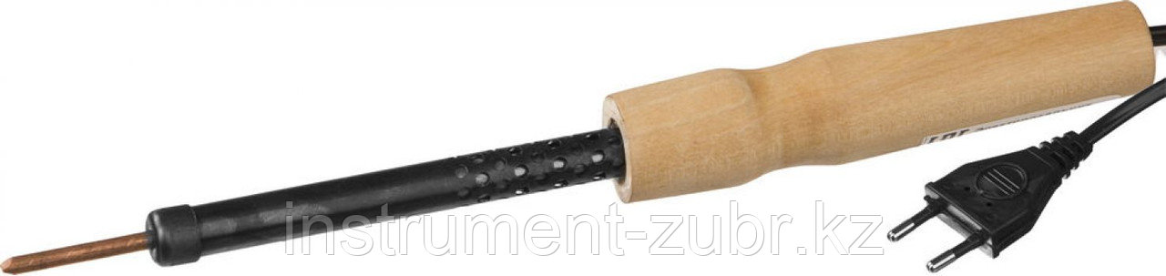 Электропаяльник с деревянной рукояткой, 25Вт