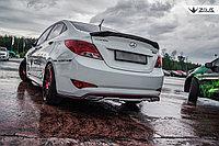 Спойлер ZEUS большой Hyundai Accent (Solaris) , фото 1