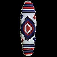 """Наждак-самоклейка антискользящая """"Этно-орнамент"""" для деревянного скейта рыбки 22 дюйма (Penny)"""