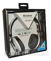 Беспроводные Стерео Bluetooth наушники с подсветкой LED TM -021(белые)