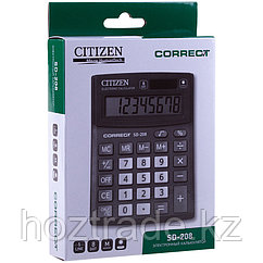 Калькулятор настольный Citizen 8 разрядов 103х138х24