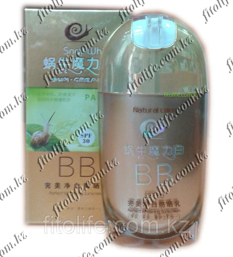 Тональный крем B.B Snail White,SPF 30 PA+++ экстракт улитки