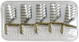 Многоразовые формы для ногтей (серебро, золото).