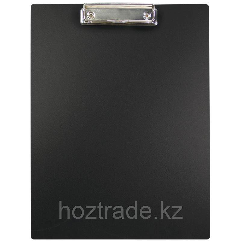 Планшет с зажимом OfficeSpace пластик черный А4
