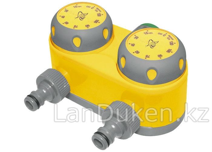 Механический таймер для полива на 2 линии 66197 Palisad luxe (002)