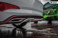 Диффузор ZEUS на задний бампер Hyundai Accent (Solaris) 2014+ , фото 1