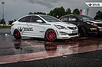 Накладки на пороги ZEUS Hyundai Accent (Solaris), фото 1