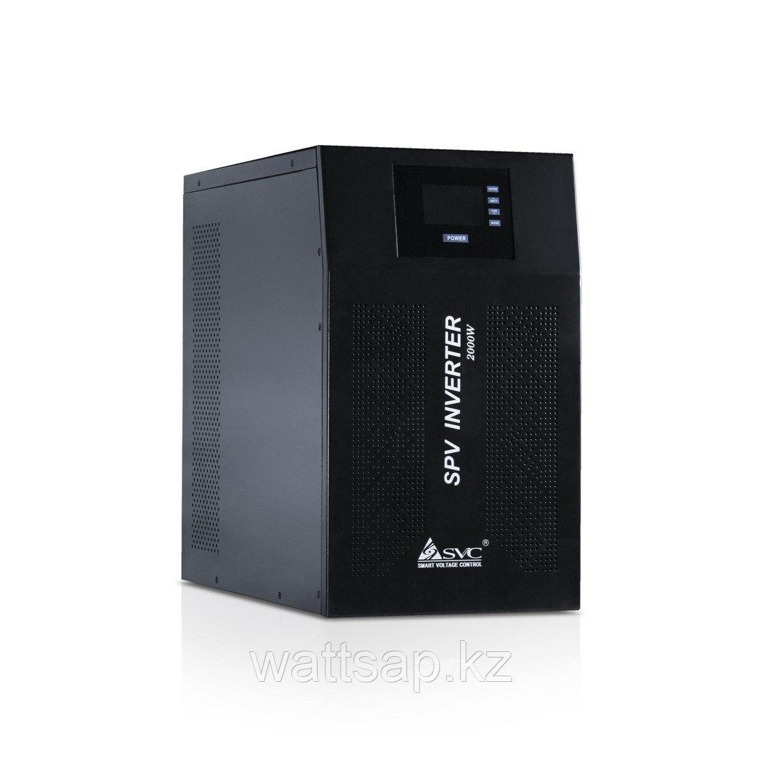 Инвертор, SVC, SPV-L-2000 (2000Вт), Вход 48В и/или 220В, Выход: от сети 220В+-10%, от батареи 220В+-5%, Диапазон работы AVR 145-275В, Контроллер:
