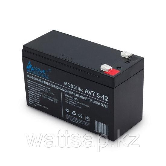 Батарея, SVC, 12В 7.5 Ач, Размер в мм.: 99*151*65