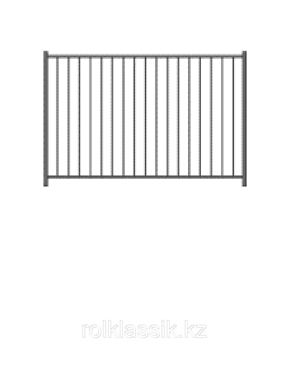 Заборы металлические с полимерным покрытием,модульные  ограждения