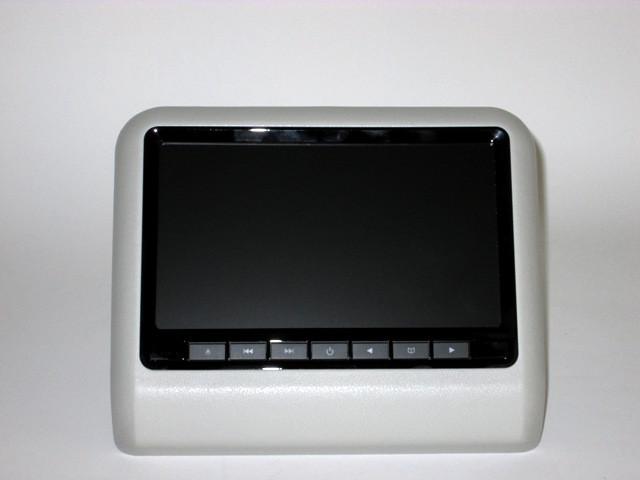 Навесные мониторы на подголовник с DVD. Серый цвет