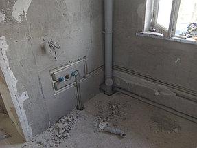 Монтаж системы водоснабжения и канализации с установкой санфаянса дом 170 м2 мкр. Думан 2