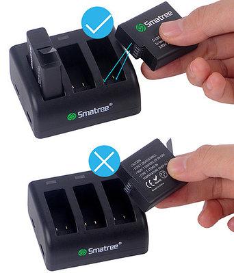 Зарядное устройство Smatree® SM-501 для 3 аккумуляторов GoPro HERO 5